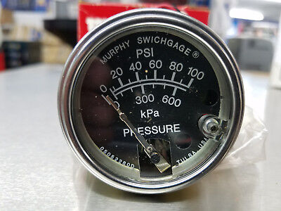"20PE-100 MURPHY PRESSURE GAUGE, Snap-Acting Switch, 2"" DIAL,  NEW IN BOX"