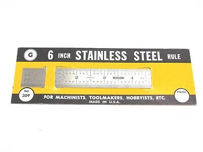 """NEW! GENERAL TOOLS 6"""" x 3/4"""" FLEXIBLE STAINLESS STEEL RULE, 32nd 64th, No. 309"""