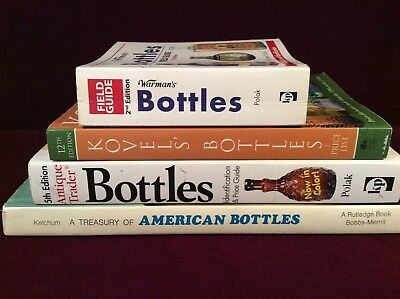 Bottle Collecting Book lot Warman's Kovel's Antique Trader