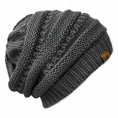 d4ab618c SLOUCHY HAT CHARCOAL gray soft baggie tam skater hippy adults ...