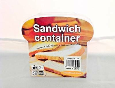 3x Plastic Sandwich Container Snack Keeper