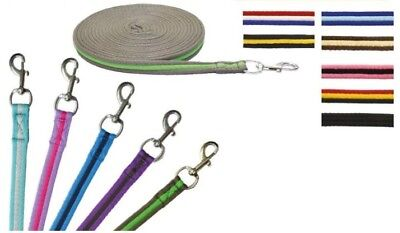 ** Long Lunge Line Rope Rein 8 Meter Dog Horse Pony Training Lead *ALL Colours**