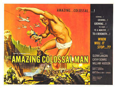1957 THE AMAZING COLOSSAL MAN VINTAGE SCI-FI MOVIE POSTER PRINT 27x36