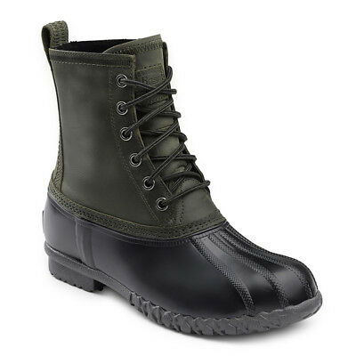 G.H. Bass & Co. Men's Dixon Genuine Leather Lace-up Duck Boot Olive/Black