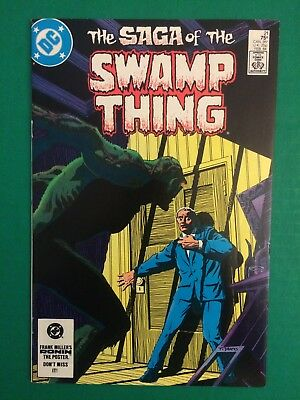 """Saga of the Swamp Thing #21, 8.0 VF! """"The Anatomy Lesson"""" ALAN MOORE DC"""