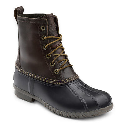 G.H. Bass & Co. Men's Dixon Genuine Leather Lace-up Duck Boot Dark Brown/Black