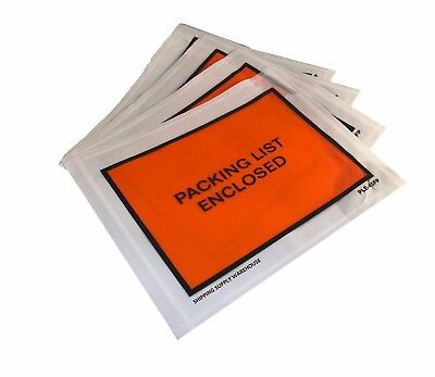 "4.5"" x 5.5"" Packing List Enclosed Envelopes Adhesive Pouches 1000 Count (Case)"