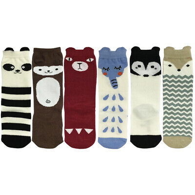 Wrapables My Best Buddy Socks for Baby (Set of 6), Forest Friends (4-6)