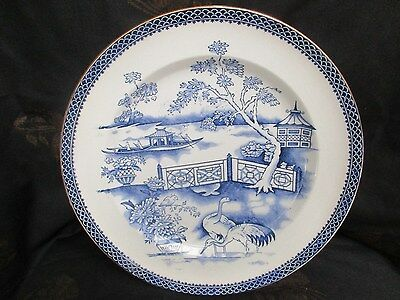 Early Victorian Blue & White Plate ,T.TILL c-1850,s CLYDE / early willow pattern