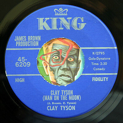 HEAR Clay Tyson 45 Man On The Moon/You Dont Know M- funk breaks james brown soul