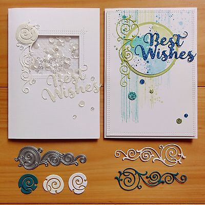 """clearance"" Die-Namics Formal Flourish Elegant Scroll Cutting Die - Bnip"