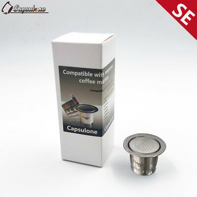 Capsulone Stainless Steel Refillable Capsules  fit for Nespresso/sealpod coffee