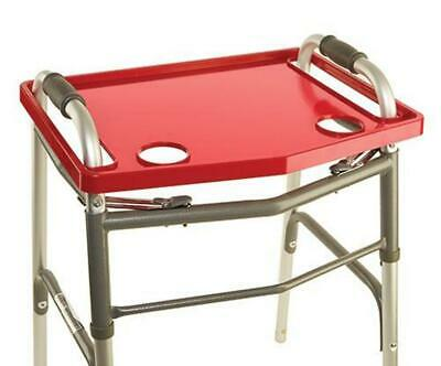 Universal Red Walker Tray NON SLIP grip mat Carry Standard Cup Holders
