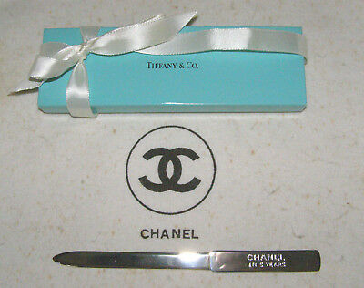 Chanel Vint. Corporate Merit Award By Tiffany & Co-Sterling Silver Letter Opener