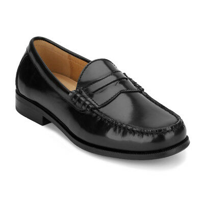G.H. Bass & Co. Men's Carmichael Genuine Leather Slip-on Penny Loafer Shoe Black