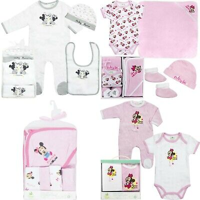 Disney Minni Baby Girls Outfits Sets Sleepsuit Newborn - 24 Months Gift Box