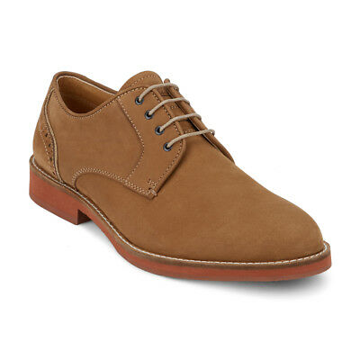 G.H. Bass & Co. Men's Niles Genuine Leather Plain Toe Buc Oxford Shoe Dirty Buck