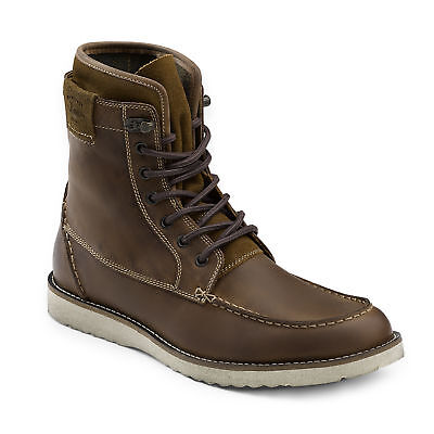 G.H. Bass & Co. Men's Shane Genuine Leather Lace-up Heritage Boot Dark Tan