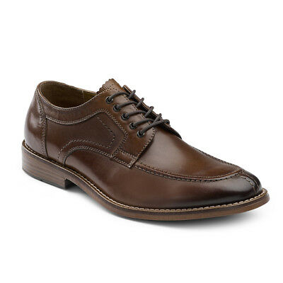 G.H. Bass & Co. Men's Carsen Genuine Leather Lace-up Moc Toe Oxford Shoe Brown