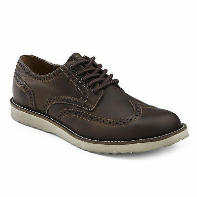 G.H. Bass & Co. Men's Stafford Genuine Leather Rugged Oxford Shoe Chocolate