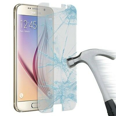 2Pcs Tempered Glass Screen Protector Film & Case For Samsung Galaxy S4 S5 S6 S7