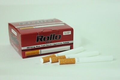 "500 KING SIZE ""NEW 50s"" RED EMPTY ROLLO TUBE Cigarette Tobacco Rolling Filter"