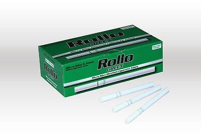 1200 MICRO SLIM GREEN MENTHOL EMPTY ROLLO TUBES Cigarette Tobacco Rolling Filter