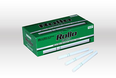 600 MICRO SLIM GREEN MENTHOL EMPTY ROLLO TUBES Cigarette Tobacco Rolling Filter