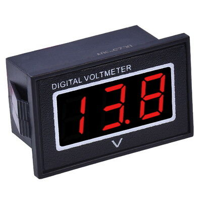 "DC 3-30V Voltmetro Digitale Impermeabile 0.36"" LED Rosso Display Pannello Tester"