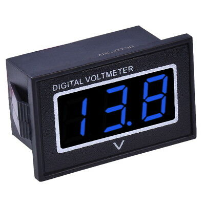 "DC 3-30V Voltmetro Digitale Impermeabile 0.36"" LED Blu Display Pannello Tester"