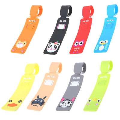 Cartoon Travel Luggage Tags Silicone Baggage Suitcase Bag Labels Name Address
