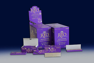 10 X 50pc ROLLO PURPLE ROLLING PAPERS RYO Cigarette Tobacco Roller Filter Ventti