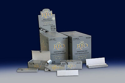 10 X 50 ROLLO GREY ROLLING PAPERS RYO Cigarette Tobacco Roller Filter NOT Ventti