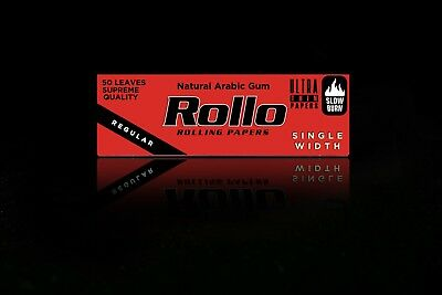 10 X 50 ROLLO RED ROLLING PAPERS RYO Cigarette Tobacco Roller Filter NOT Ventti