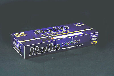"600 NEW ""CARBON"" EMPTY ROLLO TUBE Cigarette Tobacco Rolling Roller Filter Ventti"