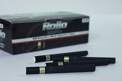 1100 ECLIPSE BLACK EMPTY ROLLO TUBE Cigarette Tobacco Rolling Roll Filter Ventti