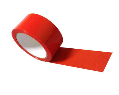 2 Rolls Red parcel tape Packing Tape 48mm x 66m