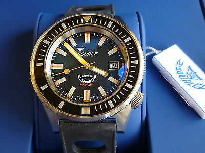Orologio SQUALE Sub Professional MATIC 60 atmos  brush Black