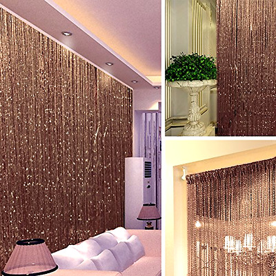 14Colors String Door Curtain Beads Room Divider Window Panel Tassel Fringe Decor