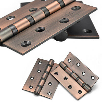 2Pcs 4 Inch Door Hinges Stainless Steel Wood Cabinet Drawer Box Interior Hinge