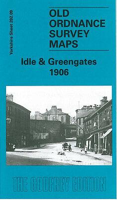 Old Ordnance Survey Map Idle & Greengates 1906 Bradford Springfield Apperley