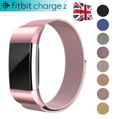 Fitbit Charge 2 Strap Replacement Milanese Loop Band Stainless Steel Magnet UK