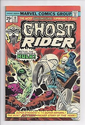 Ghost Rider #10  Hulk vs Ghost Rider  mid-grade  Fine/Very Fine  Nice Eye Appeal