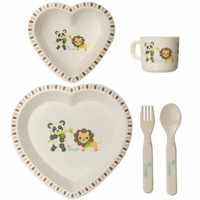 Bo Jungle Children's Baby Kids B-Dinner Set Dinnerware Eating Heart B550600