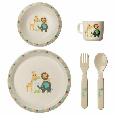 Bo Jungle Children's Baby Kids B-Dinner Set Eating Dinnerware Round B550620
