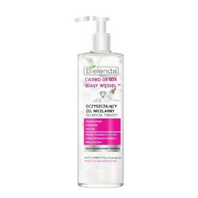 Bielenda White Carbon Face Cleansing Micellar Gel Mixed and Oily Skin 195g