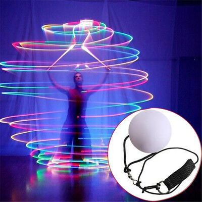 LED Multi-Colour Glow POI Thrown Ball Light up For Belly Dance Fitness Props