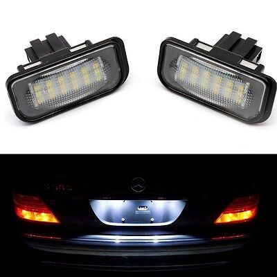 2X LED Car License Number Plate Light Lamp No Error For Mercedes Benz C W203 UK