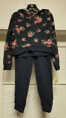 New Guess Girls Active 2 Piece Set NAVY BLUE FLORAL Size 8~~ FreE ShiPPinG ~~