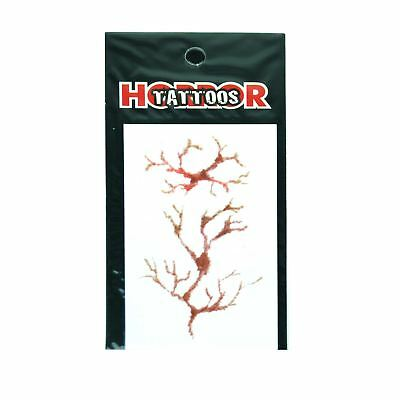 Veins Temporary Tattoo Halloween Scary Dress Up Costume Party Fun